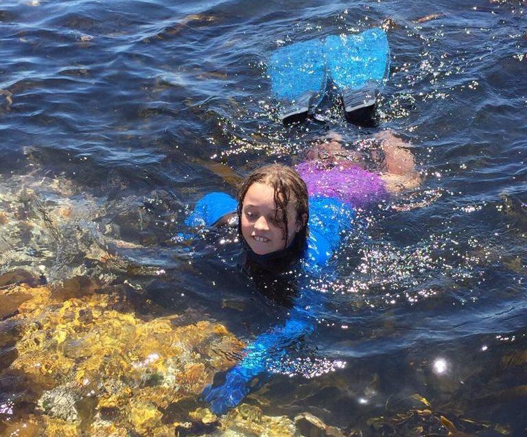 Elisabeth swimming