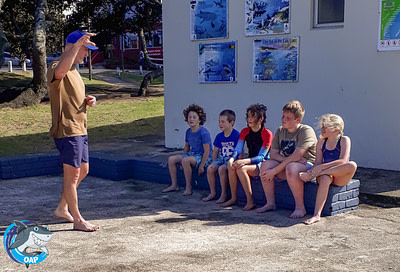 Coach Edward teaching students during the OAP session on 7 September 2019