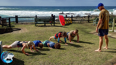 Students duing push-ups during the OAP session on 7 September 2019