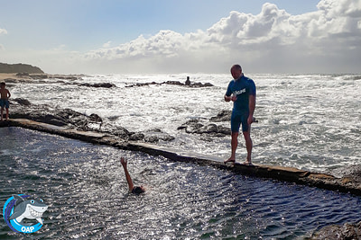 Student swimming in the tidal pool during the OAP session on 7 September 2019